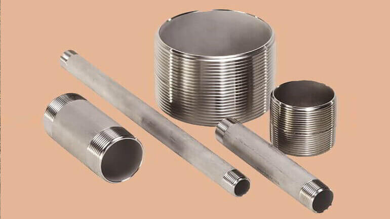 ASTM A403 STAINLESS STEEL WP321 PIPE NIPPLE